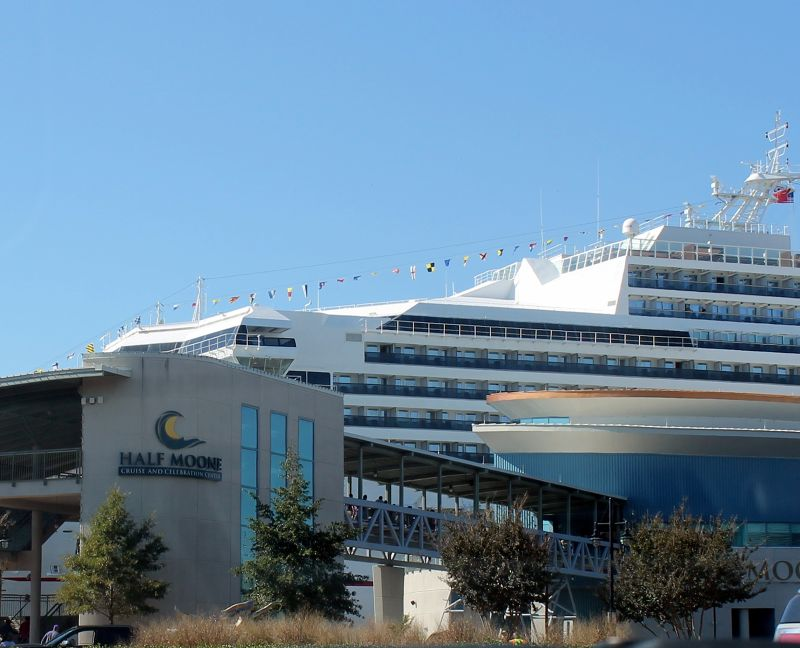 Carnival Sunshine at the Half Moone Cruise Center