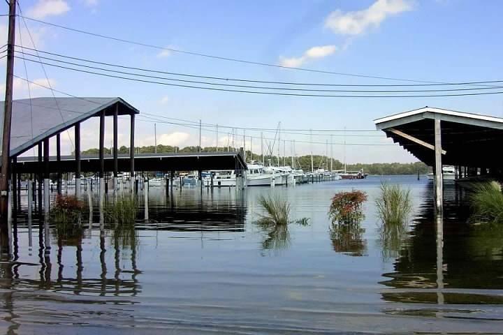 Covered docks after Isabel