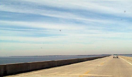 Highway 32 across Albemarle sound - Edenton shore