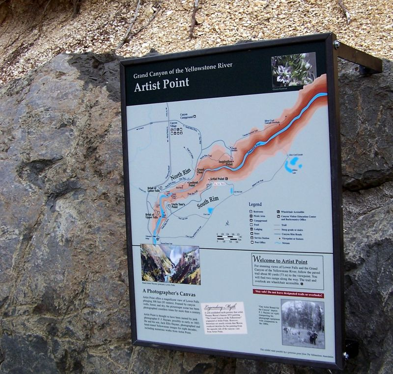 Sign showing canyon map