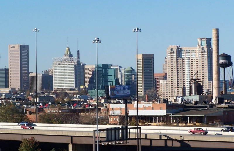 Baltimore skyline in 2004