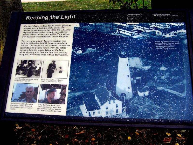 Informational sign about the lighthouse