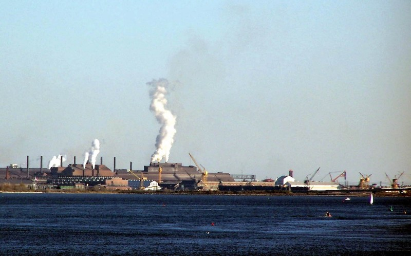 Industrial area Baltimore harbor