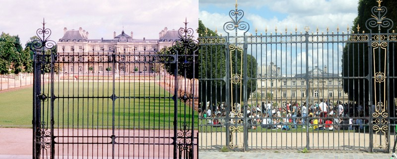 The Senat in the backgrounds du Luxembourg Gardens