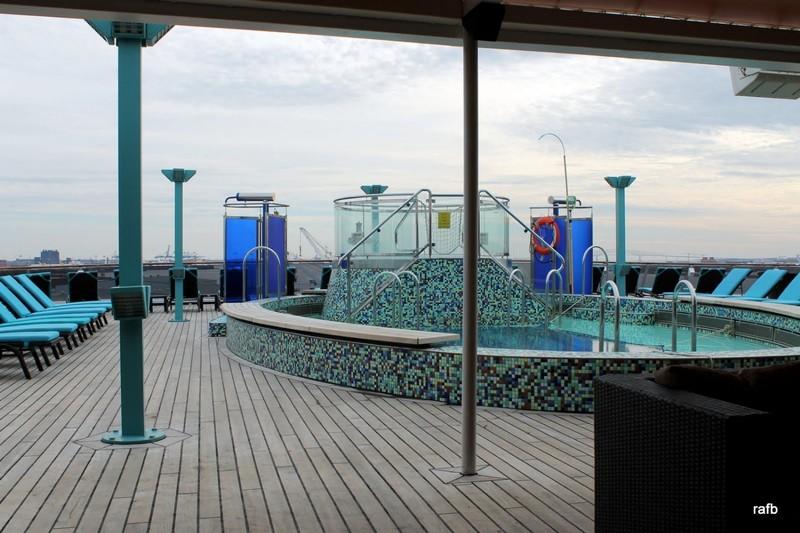 Pool before passengers arrive