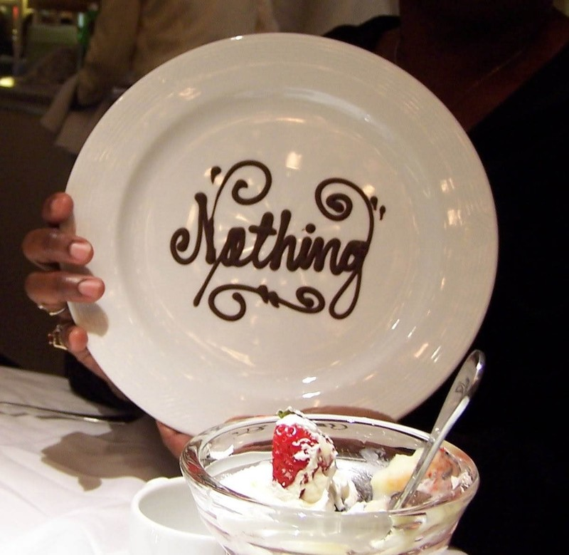 Nothing - a dessert plate