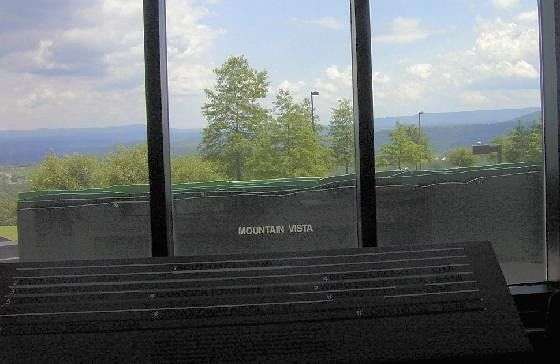 Mountain Vista - mountains that we see from the center are labeled