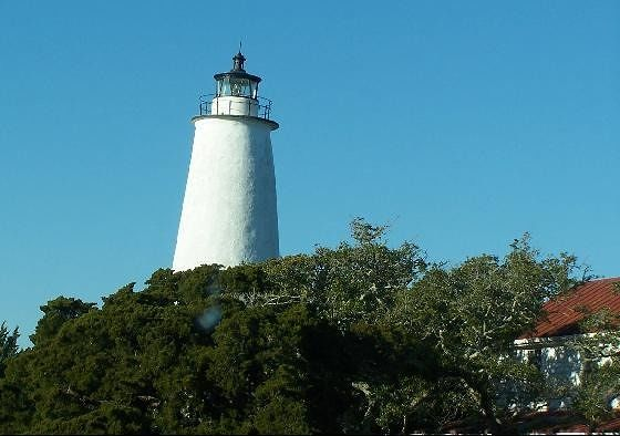 Ocracoke Lighthouse (It's not crooked - I am)