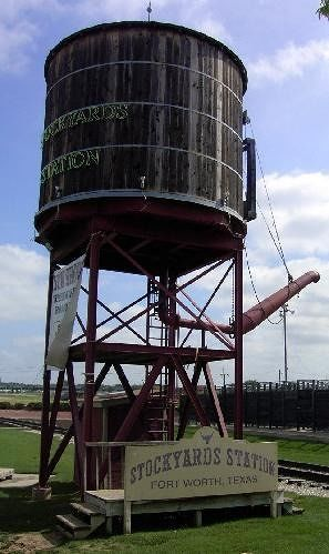 Railroad water tank