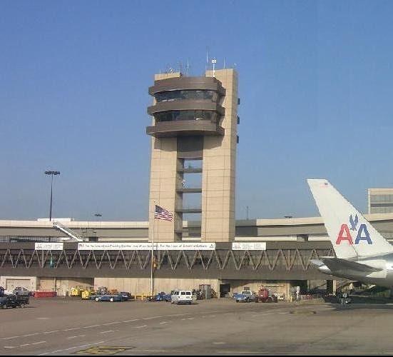 Terminal building 8:41 am