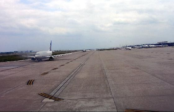 Taxiway taking off 2:37 pm