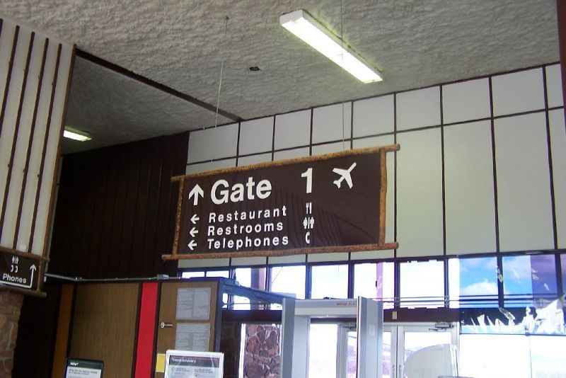 Gate sign for the only gate