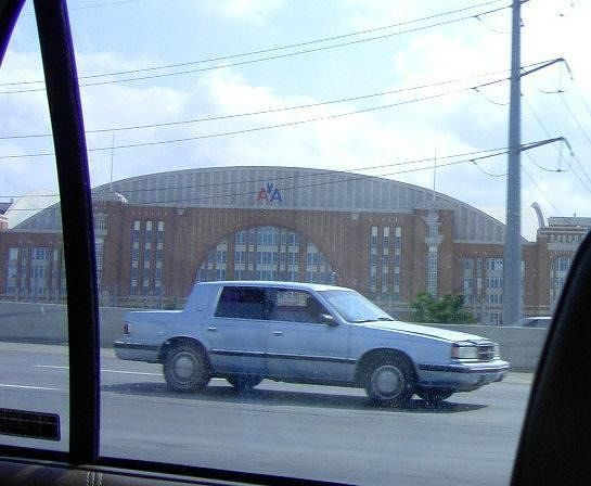 Arena from the car