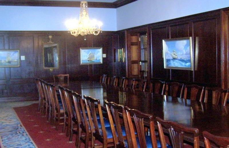 Board room in the Commissioner's house with Bermuda Cedar furniture