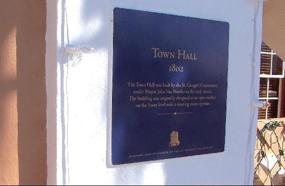 Plaque on Town Hall