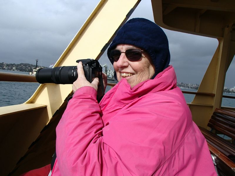 My granddaughters photo of me on the ferry
