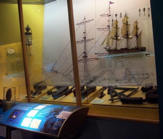 Exhibit in the Shipwreck area