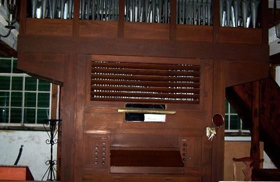 Organ inside the church