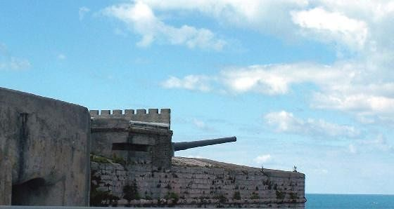 cannon on fort wall