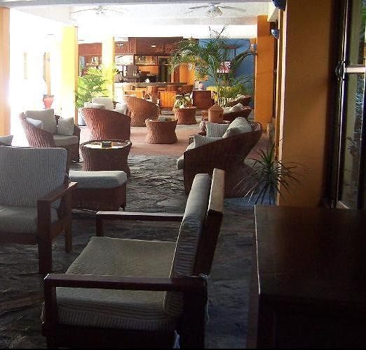 Lounge area with the bar at the end