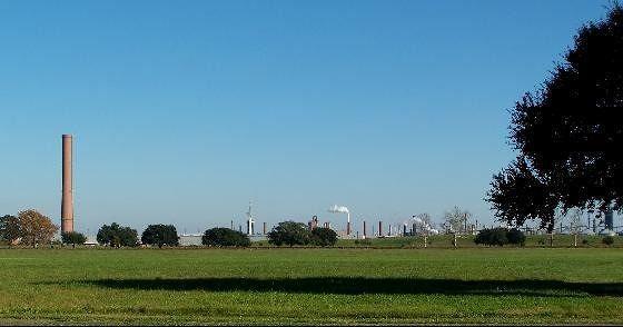 Smokestack across the fields