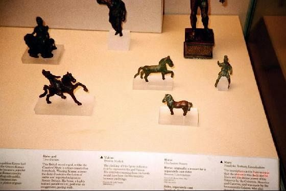 Horse figures in the Roman section