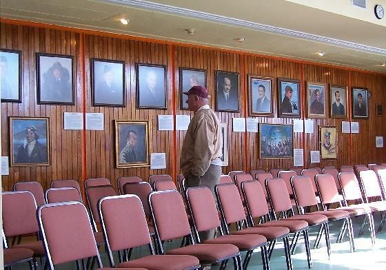 Wall of Fame and seating