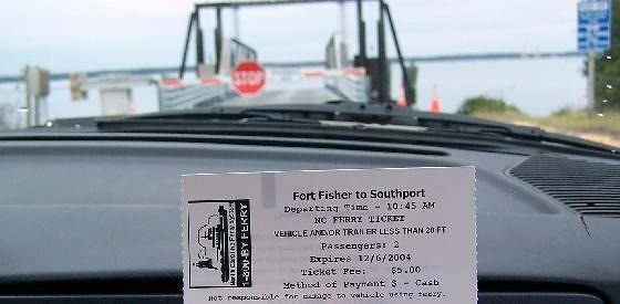 Ferry ticket - Fort Fisher