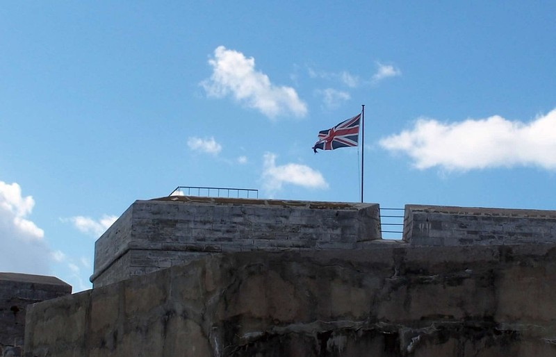 Flag over the fort