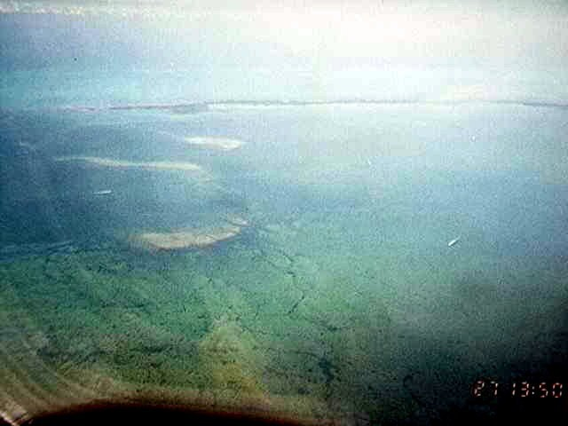 Belize from the plane