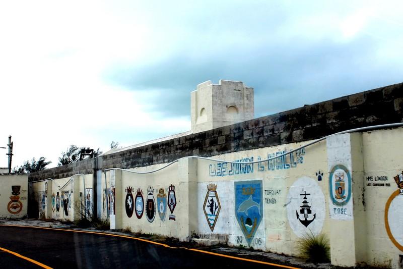 Wall of ship logos