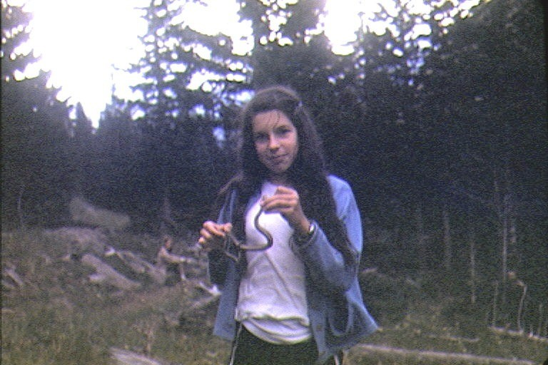 Me with the garter snake I caught