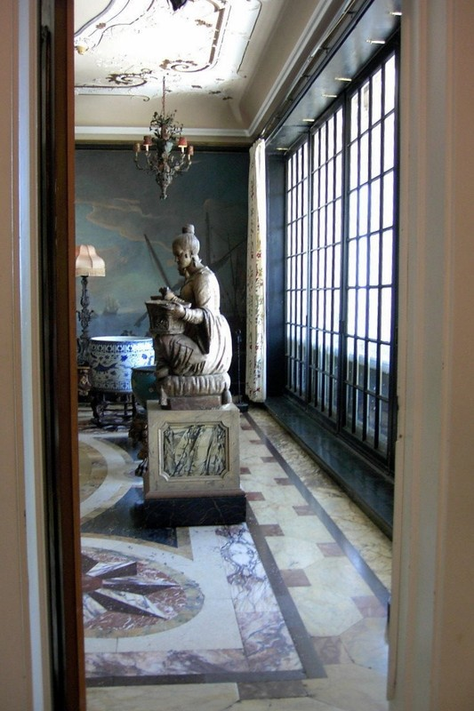 Terracotta Sculptures in the breakfast room - from the kitchen