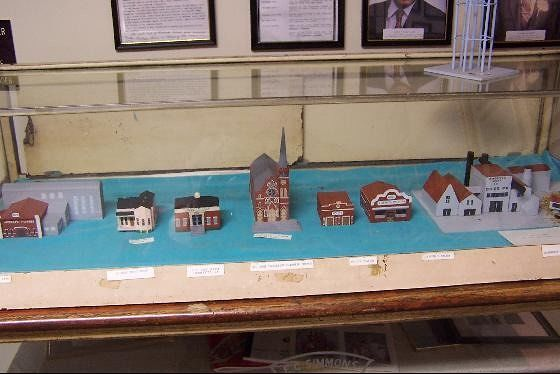Models of buildings of Jeanerette