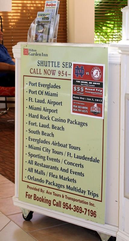 Shuttle Service board