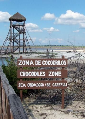 Sign and observation tower
