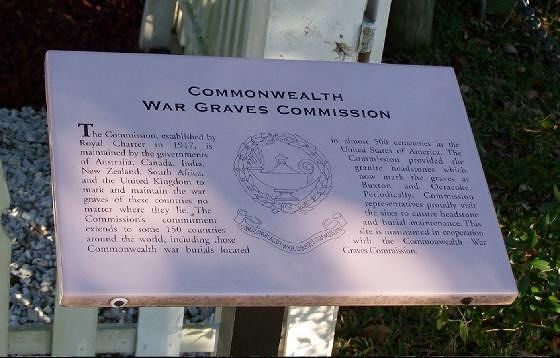 COMMONWEALTH WAR GRAVES COMMISSION Sign