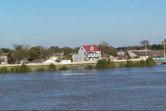 House along the levee