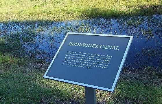 Sign about the canal