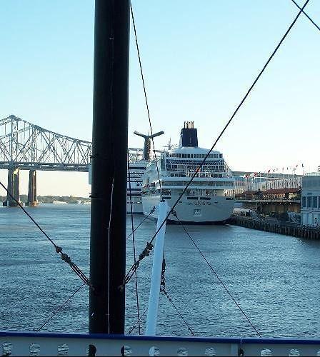 Cruise Ship Dock and bridge