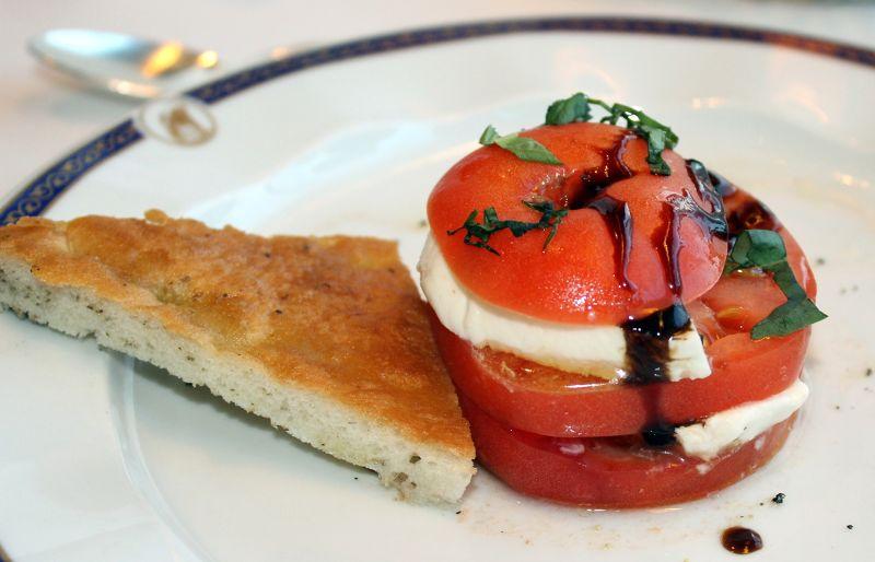 Tomato and mozzarella appetizer