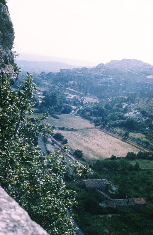 Valley below Les Baux