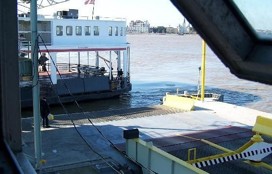 Ferry coming into the dock
