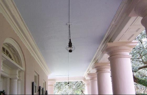 Roof of verandah