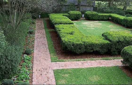 Formal garden from above