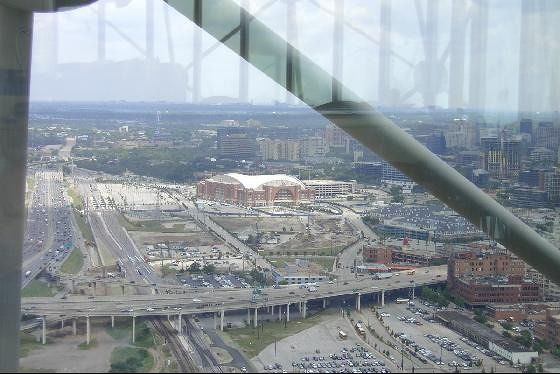 American Airlines Arena from Reunion Tower