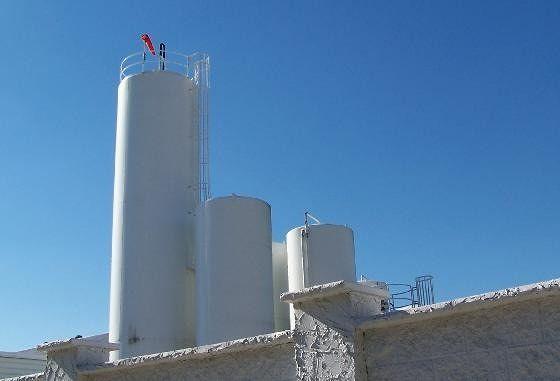 Milk plant silos