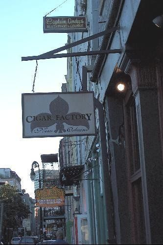 Cigar Factory Sign on the street