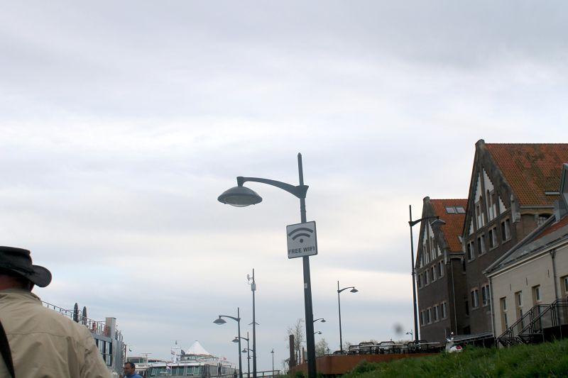 Bob on the left - walking back to the AmaViola - Volendam