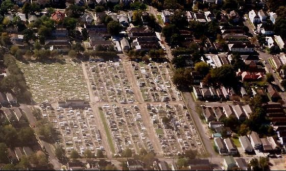 Cemetery from the airplane
